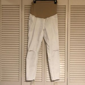 White maternity skinny jeans- Medium